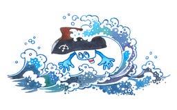 Tsunami catastrophique. illustration libre de droits