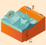 Tsunami del terremoto Fotos de archivo libres de regalías