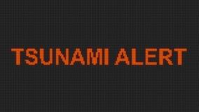 Tsunami DOWODZONY signboard royalty ilustracja
