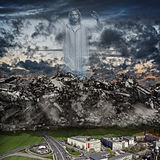 Tsunami en pierre image libre de droits