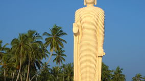 Tsunami-Erinnerungs-Buddha-Statue in Sri Lanka stock video