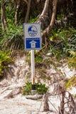 Tsunami evacuation road sign Royalty Free Stock Photo
