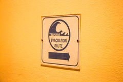 Tsunami evacuation route sign Stock Photography