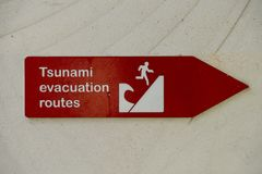 Tsunami Evacuation Route. In Southern Asia Stock Photos
