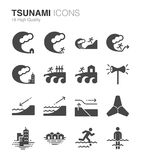 Tsunami and flood. Flat Design Illustration: Tsunami and flood Royalty Free Stock Photo