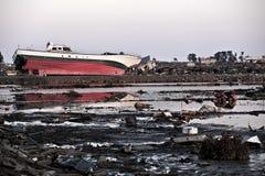 Tsunami Giappone Fukushima 2011 Fotografia Stock Libera da Diritti