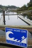 Tsunami Hazard Zone Stock Photo