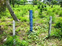 Tsunami hazard zone. Photo taken at Phi Phi Islands during holidays. So noone forgets Royalty Free Stock Photo