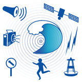 Tsunami Icons Royalty Free Stock Image