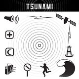 Tsunami Icons and Symbols Royalty Free Stock Photography