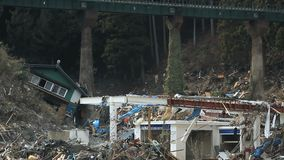 Tsunami Japón Fukushima 2011 almacen de video