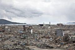 Tsunami Japón Fukushima 2011 Fotos de archivo
