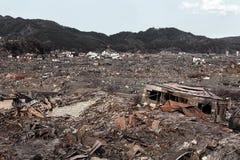 Tsunami Japón Fukushima 2011 Imagen de archivo