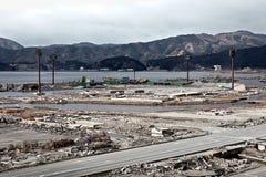 Tsunami Japón Fukushima 2011 Fotos de archivo libres de regalías