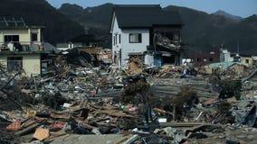 Tsunami Japan Fukushima 2011 stock footage