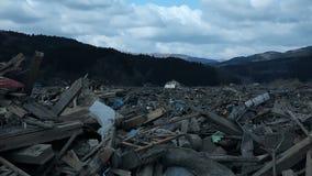 Tsunami Japan Fukushima 2011 stock video footage