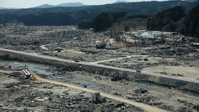 Tsunami Japan Fukushima 2011 stock footage