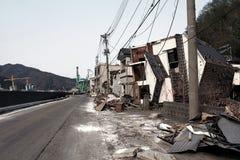 Tsunami Japan fukushima 2011 Arkivbild