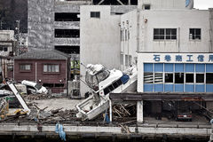 Tsunami Japan Fukushima 2011 Stockfotos