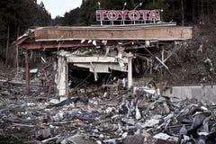 Tsunami Japan 2011 Fukushima Obrazy Stock