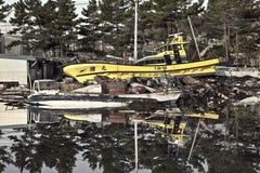 Tsunami japan 2011 fukushima. Consequences of the tsunami in Japan in 2011, Fukushima, 03/30/2011 Stock Photo