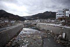 Tsunami japan 2011 fukushima. Consequences of the tsunami in Japan in 2011, Fukushima, 03/30/2011 Royalty Free Stock Image