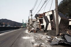 Tsunami japan 2011 fukushima Stock Photography