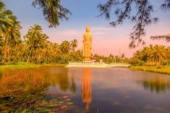 Tsunami Memorial, Buddha statue in Peraliya, Sri Lanka. Huge Buddha statue reflected in a lake Royalty Free Stock Photography