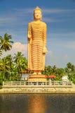 Tsunami Memorial, Buddha statue in Peraliya, Sri Lanka. Huge Buddha statue reflected in a lake Royalty Free Stock Photo