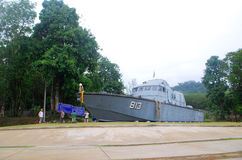 Tsunami memorial. Khao Lak, Thailand : the tsumani in 2004 surge plowed into Khao Lak, this huge heavy boat was pushed 2 km inland where it still sits today as a Royalty Free Stock Photos