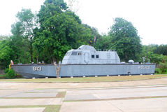 Tsunami memorial. Khao Lak, Thailand : the tsumani in 2004 surge plowed into Khao Lak, this huge heavy boat was pushed 2 km inland where it still sits today as a Royalty Free Stock Photography