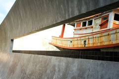 Tsunami Memorial in Thailand. Beautiful ship Beautiful Lighting Stock Images