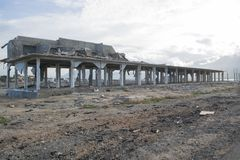 Tsunami Damage In Palu Coastal Area stock image