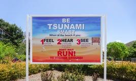 Tsunami sign Royalty Free Stock Image
