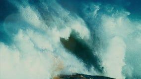 Tsunami storm, orkan, tyfon, arkivfilmer