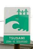 Tsunami strefy znak Fotografia Stock