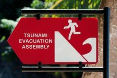 tsunami szyldowy ostrzeżenie Obrazy Royalty Free