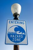 Tsunami Warning Sign Royalty Free Stock Photo