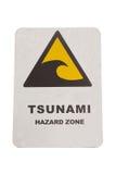 Tsunami warning sign Stock Photography