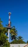 Tsunami warning tower. Stock Image