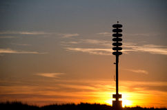 Tsunami warning tower at sunset Stock Photography