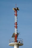 The tsunami warning tower in Thailand Stock Photo