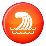 Tsunami wave icon, flat style Royalty Free Stock Photos