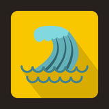 Tsunami wave icon in flat style Royalty Free Stock Photography
