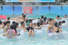Tsunami Wave Pool at Wild Wild Wet, Singapore Royalty Free Stock Photos
