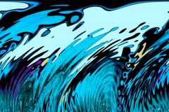 Tsunami waves. Strong ocean currents creating  tsunami waves Royalty Free Stock Photo