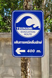 Tsunami-Zeichen Lizenzfreies Stockbild