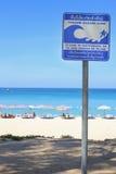 Tsunami znak ostrzegawczy, Phuket Thailand Zdjęcia Stock