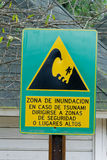 Tsunami zone sign Stock Image