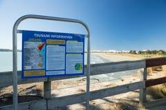 Tsunamiwaarschuwing Nieuw Zeeland royalty-vrije stock foto's